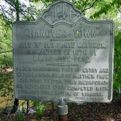"""Hanover Town"" Marker image. Click for full size."