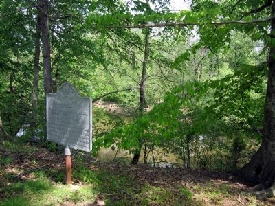 Site of Hanovertown on the Pamunkey River (private property) image. Click for full size.