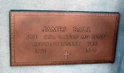 James Ball - Plaque image. Click for full size.