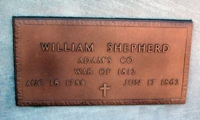 William Shepherd - Plaque image. Click for full size.