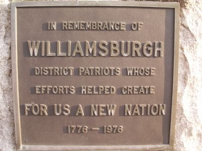 Williamsburgh Marker image. Click for full size.