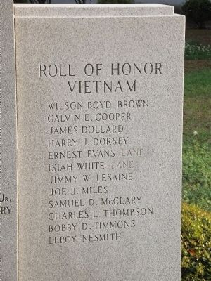 Willamsburg County Veterans Monument Marker image. Click for full size.