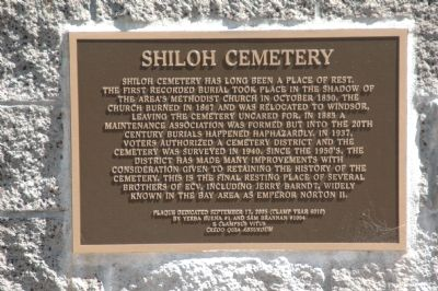 Shiloh Cemetery Plaque image. Click for full size.