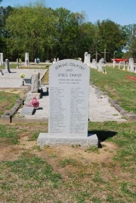 Flat Rock Cemetery Veterans Monument image. Click for full size.