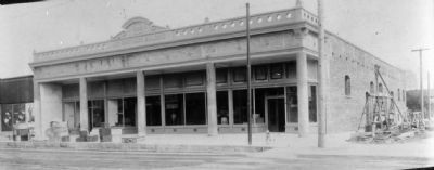 Lee Bros. Building Under Construction image. Click for full size.