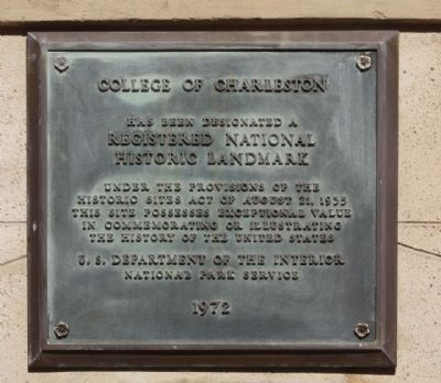College of Charleston Marker image. Click for full size.