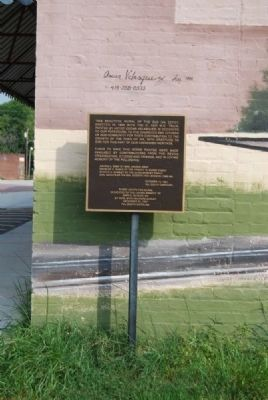 Old Iva Depot Mural Marker image. Click for full size.