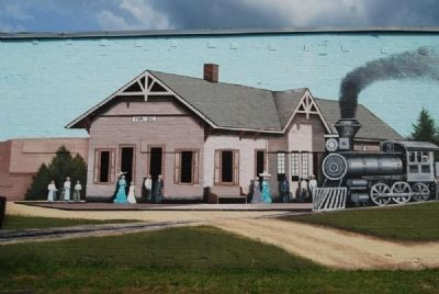 Old Iva Depot Mural image. Click for full size.