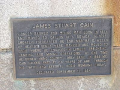 James Stuart Cain Marker image. Click for full size.
