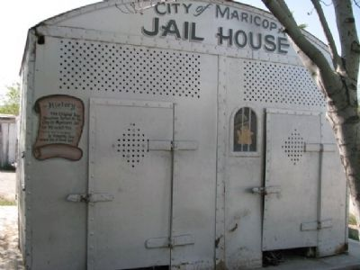 Maricopa's Jail Marker image. Click for full size.