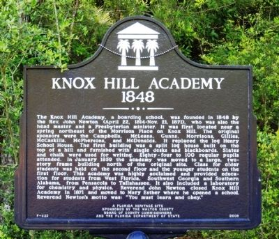 Knox Hill Academy Marker image. Click for full size.