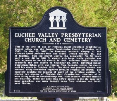 Euchee Valley Presbyterian Church And Cemetery Marker image. Click for full size.