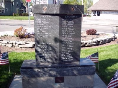 Side One - - Wells County Veterans Honor Roll Marker image. Click for full size.