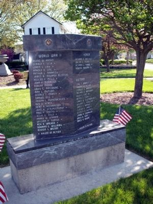 Obverse Side - - Wells County Veterans Honor Roll Marker image. Click for full size.