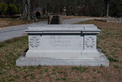 Dr. Samuel Marshall Orr Tombstone<br>Old Silver Brook Cemetery<br>White Street, Anderson SC image. Click for full size.