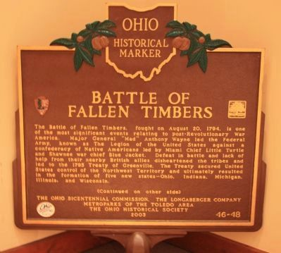 Battle of Fallen Timbers Marker image. Click for full size.