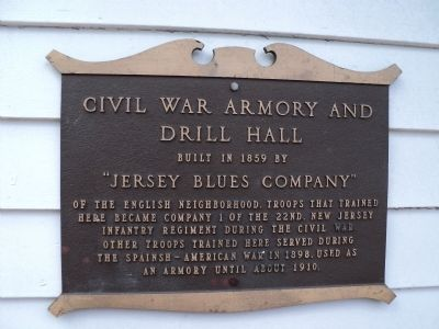 Civil War Armory and Drill Hall Marker image. Click for full size.