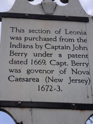 Leonia Patent Marker image. Click for full size.