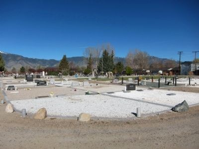 Garden Cemetery - looking northwest from southeast corner of the cemetery image. Click for full size.