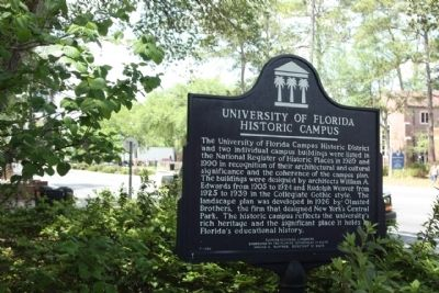 University of Florida Historic Campus Marker image. Click for full size.
