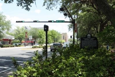 University of Florida Historic Campus Marker, looking east along W University Avenue (StateRoute 26) image. Click for full size.