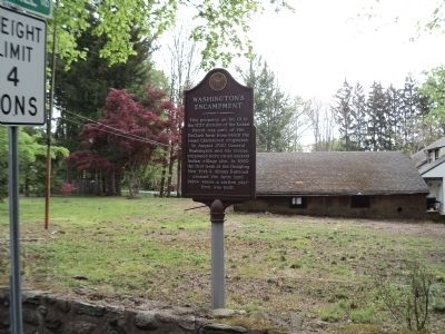 Washington's Encampment Marker image. Click for full size.