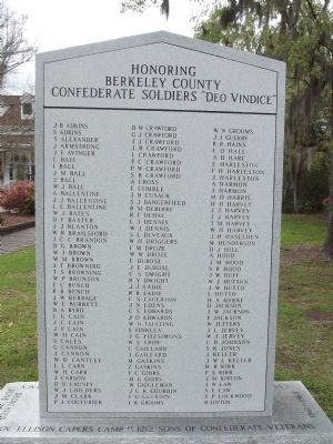 Berkeley County Confederate Monument Marker image. Click for full size.
