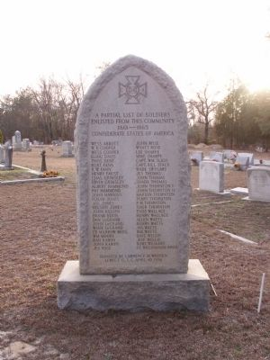 Killian Road Baptist Church Cemetery Confederate Soldiers Monument Marker image. Click for full size.