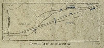 """The Yankees are Coming"" Marker included battle map image. Click for full size."