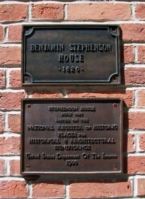 Benjamin Stephenson House Marker image. Click for full size.