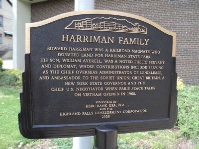 Harriman Family Marker image. Click for full size.