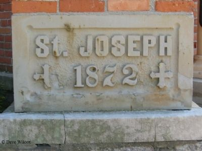 St. Joseph Catholic Church Cornerstone image. Click for full size.