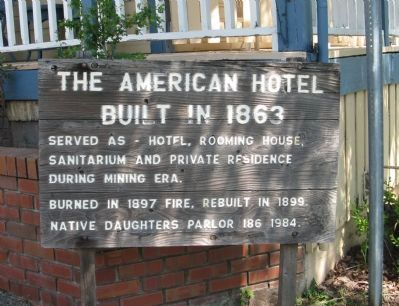 The American Hotel Marker image. Click for full size.