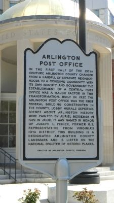 Arlington Post Office Marker image. Click for full size.