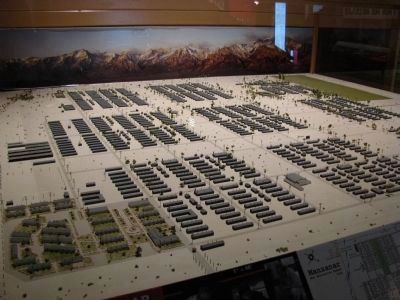 Model of the Manzanar Camp image. Click for full size.