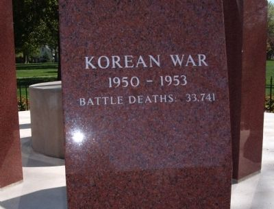Korean War - - Boone County Veterans Memorial Marker image. Click for full size.