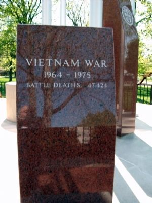 Vietnam War - - Boone County Veterans Memorial Marker image. Click for full size.