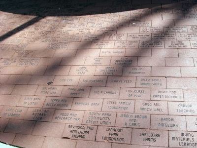 More Memorial Bricks - - Boone County Veterans Memorial Marker image. Click for full size.