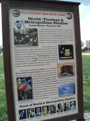 World/Peerless & Metropolitan Studios Marker image. Click for full size.