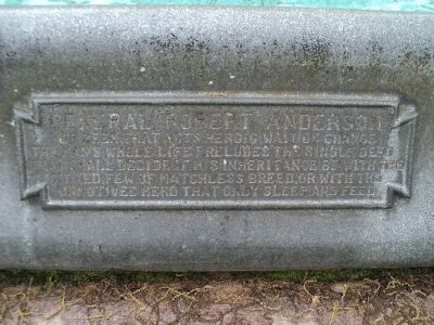 General Robert Anderson Marker image. Click for full size.