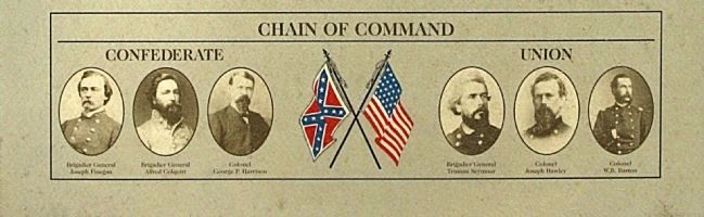 Olustee Battlefield Marker, center panel, Chain of Command image. Click for full size.