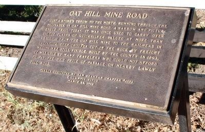 Oat Hill Mine Road Marker image. Click for full size.