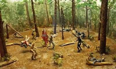 Olustee Battlefield Diorama at the Visitor's Center image. Click for full size.