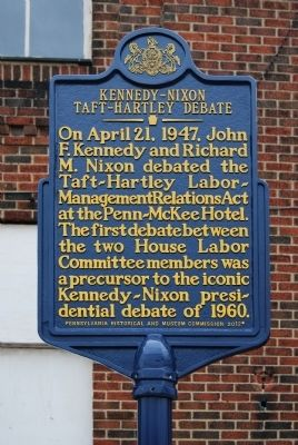 Kennedy-Nixon Taft-Hartley Debate Marker image. Click for full size.