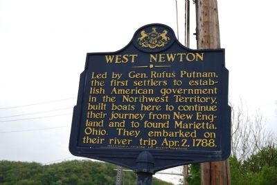 West Newton Marker image. Click for full size.