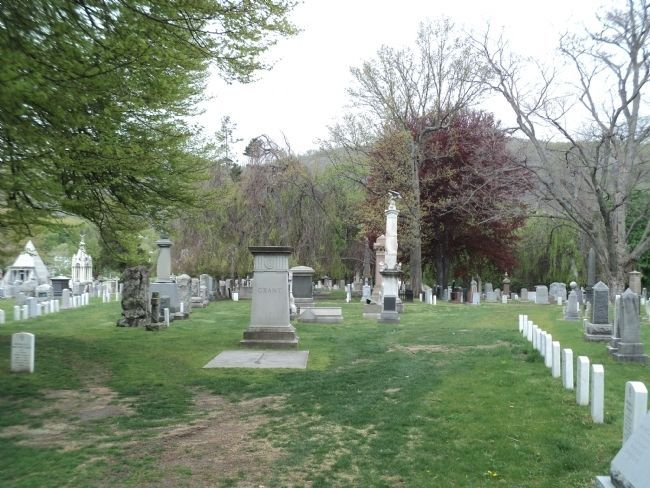 Grant Marker in West Point Cemetery image. Click for full size.