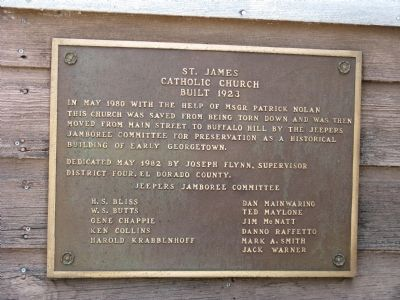 St. James Catholic Church Marker image. Click for full size.