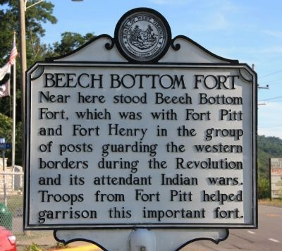 Beech Bottom Fort Marker image. Click for full size.