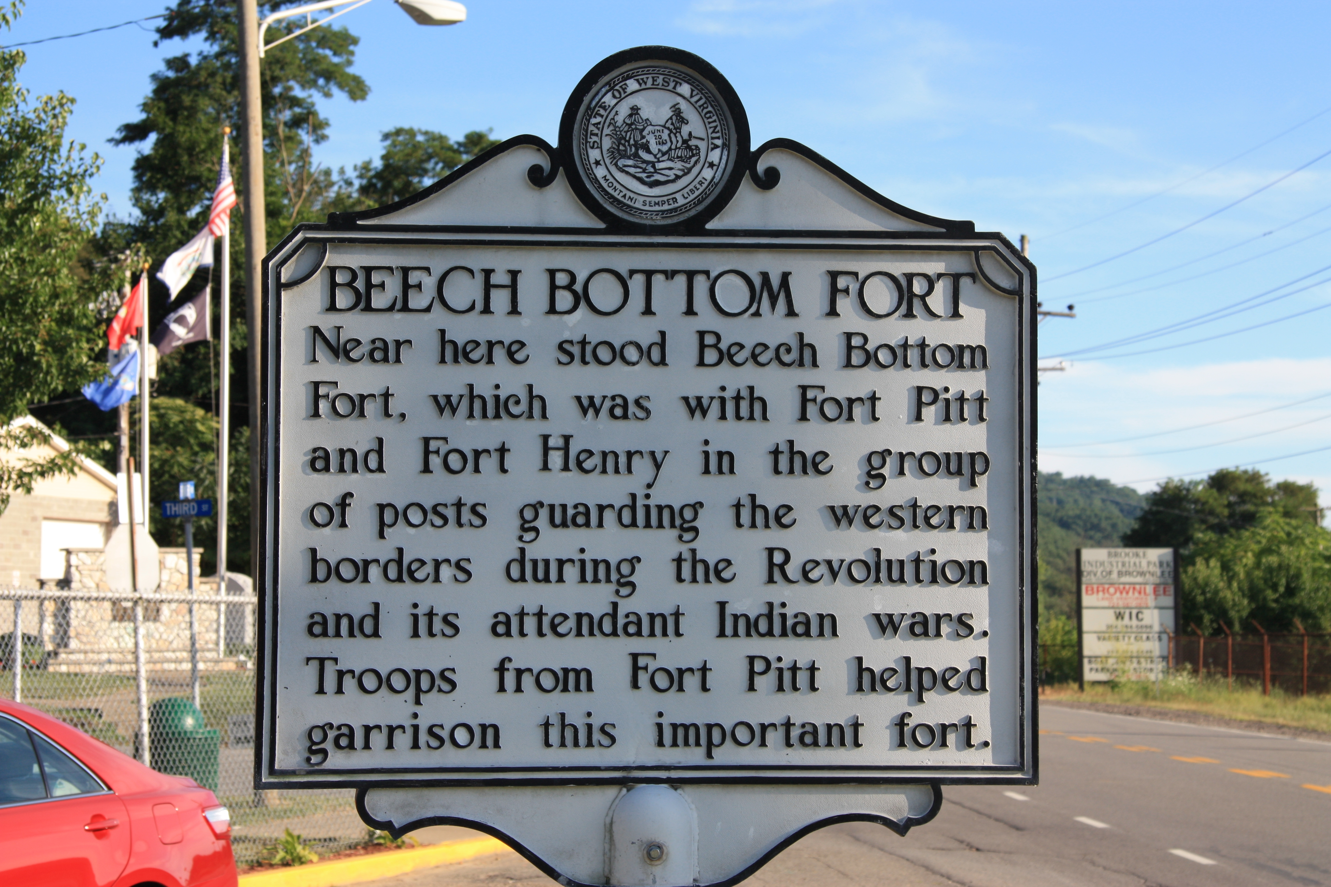 Beech Bottom Fort Marker