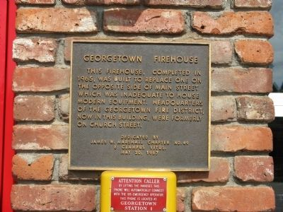 Georgetown Firehouse Marker image. Click for full size.